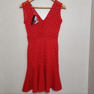 TFNC Romantic Date Night Cherry Red Bodycon Dress